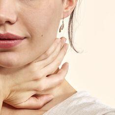 Boucles D'oreilles Pendantes Aube Or Bicolore Diamant - Boucles d'oreilles Pendantes Femme | Marc Orian