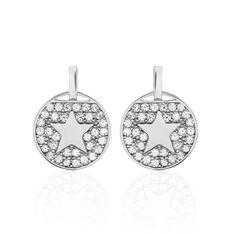 Boucles D'oreilles Pendantes Souria Argent Blanc Oxyde De Zirconium - Boucles d'oreilles Pendantes Femme | Marc Orian