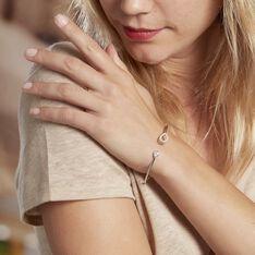 Bracelet Jonc Elorie Argent Blanc Oxyde De Zirconium - Bracelets fantaisie Femme | Marc Orian