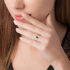 Bague Crystalle Or Blanc Saphir Et Diamant - Bagues Solitaire Femme | Marc Orian