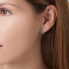 Boucles D'oreilles Puces Or Jaune Saphir Et Diamant - Boucles d'oreilles Pendantes Femme | Marc Orian