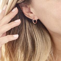Créoles Agathe Diamantées Argent Rose - Boucles d'oreilles Créoles Femme | Marc Orian