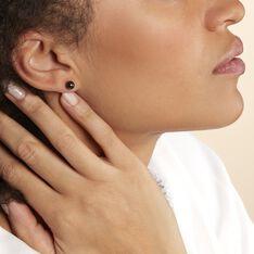 Boucles D'oreilles Puces Solene Argent Blanc Céramique - Clous d'oreilles Femme | Marc Orian