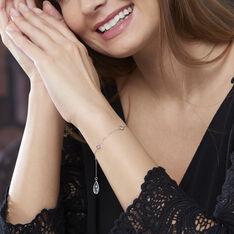 Bracelet Or Blanc Topazes - Bracelets chaînes Femme | Marc Orian