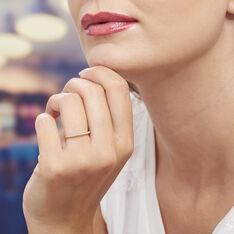 Bague Gaetane Plaque Or Jaune Oxyde De Zirconium - Bague fantaisie Femme | Marc Orian