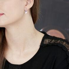 Boucles D'oreilles Puces Odila Or Blanc Saphir Et Diamant - Boucles d'oreilles Pendantes Femme | Marc Orian