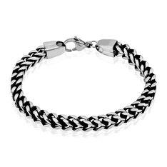 Bracelet Manuel Acier Blanc - Bracelets mailles Homme | Marc Orian