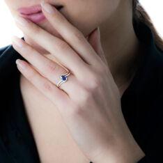Bague Anja Or Blanc Saphir Et Diamant - Bagues Solitaire Femme | Marc Orian