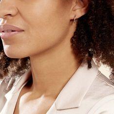 Créoles Agathe Diamantees Argent Blanc - Boucles d'oreilles Créoles Femme   Marc Orian