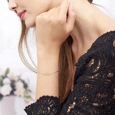 Bracelet Hanae Plaque Or Jaune - Bracelets chaînes Femme | Marc Orian