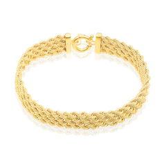 Bracelet Jerry Maille Corde 4 Rangs Or Jaune - Bracelets mailles Femme | Marc Orian