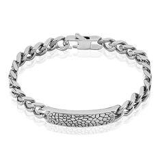 Bracelet Croco Acier Blanc - Bracelets chaînes Homme | Marc Orian
