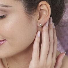 Boucles D'oreilles Puces Eleanor Dauphin Or Jaune Perle De Culture - Boucles d'oreilles Pendantes Femme | Marc Orian