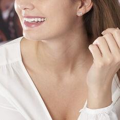 Boucles D'oreilles Puces Lamia Argent Blanc - Clous d'oreilles Femme | Marc Orian