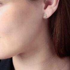 Boucles D'oreilles Puces Daria Cœur Or Jaune Oxyde De Zirconium - Clous d'oreilles Femme   Marc Orian