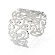 Bracelet Manchette Abygaelle Acier Blanc - Bracelets manchettes Femme | Marc Orian