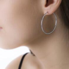 Créoles Valencina Flexibles Rondes Or Blanc - Boucles d'oreilles Créoles Femme | Marc Orian