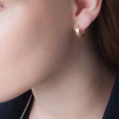Créoles Ugenie Grec Or Jaune - Boucles d'oreilles Créoles Femme | Marc Orian