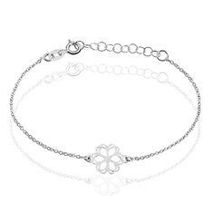 Bracelet Gaenor Argent Blanc - Bracelets chaînes Femme | Marc Orian