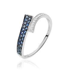 Bague Amelie Or Blanc Saphir Et Diamant - Bagues Femme | Marc Orian