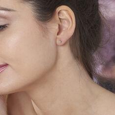 Boucles D'oreilles Puces Victoria Or Jaune Diamant - Clous d'oreilles Femme   Marc Orian