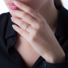 Bague Selene Or Bicolore Diamant - Bagues Solitaire Femme | Marc Orian