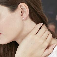 Boucles D'oreilles Puces Kate Or Rose Diamant - Clous d'oreilles Femme | Marc Orian