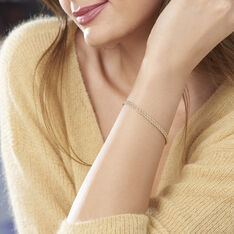Bracelet Jerry Maille Corde 2 Rangs Or Jaune - Bracelets Femme | Marc Orian