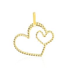 Pendentif Eudocie Coeurs Diamantes Or Jaune - Pendentifs Femme   Marc Orian