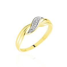 Bague Amayas Or Bicolore Diamant - Bagues Femme   Marc Orian