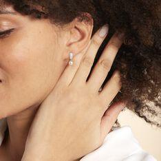 Boucles D'oreilles Pendantes Providence Argent Perle De Culture Oxyde - Boucles d'oreilles Pendantes Femme | Marc Orian