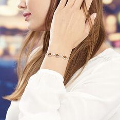 Bracelet Mounyaae Argent Blanc Ambre - Bracelets chaînes Femme | Marc Orian