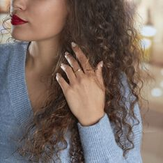 Bague Solitaire Vicoeuria Or Jaune Diamant Synthétique - Bagues Solitaire Femme   Marc Orian