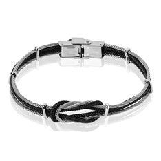 Bracelet Acier Nœud Marin Cable Cordon - Bracelets cordons Homme | Marc Orian
