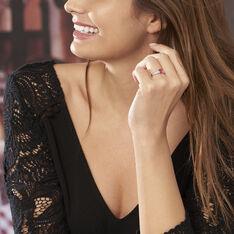 Bague Crista Or Blanc Rubis Et Diamant - Bagues Femme   Marc Orian