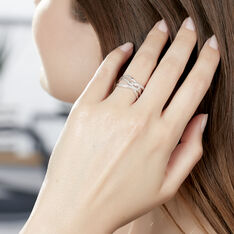 Bague Robanne Or Blanc Diamant - Bagues Femme | Marc Orian