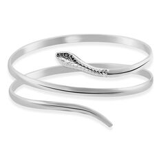 Bracelet Jonc Solitaae Argent Blanc - Bracelets jonc Femme   Marc Orian