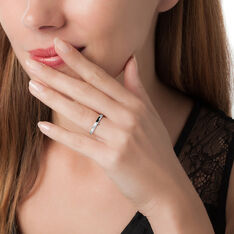 Bague Lou Or Blanc Diamant - Bagues Solitaire Femme   Marc Orian