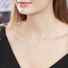 Collier Klothilda Or Blanc Oxyde De Zirconium - Colliers Femme | Marc Orian