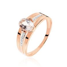 Bague Milna Or Rose Morganite Et Diamant - Bagues Femme   Marc Orian