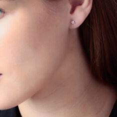 Boucles D'oreilles Puces Doreen Carre Or Jaune Oxyde De Zirconium - Clous d'oreilles Femme | Marc Orian