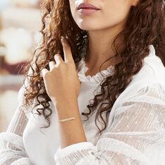 Bracelet Barrette Gravable Or Jaune - Bracelets chaînes Femme | Marc Orian