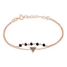 Bracelet Andreana Argent Rose Oxyde De Zirconium - Bracelets chaînes Femme | Marc Orian