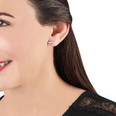 Bijoux D'oreilles Edma Or Blanc Oxyde De Zirconium - Boucles d'oreilles Ear cuffs Femme | Marc Orian