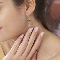 Boucles D'oreilles Pendantes Levannah Argent Blanc Ambre - Boucles d'oreilles Pendantes Femme   Marc Orian