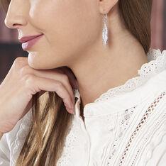 Boucles D'oreilles Argent Irene Plumes - Boucles d'oreilles Pendantes Femme | Marc Orian