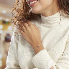 Bracelet Elanda Argent Rose Oxyde De Zirconium - Bracelets chaînes Femme | Marc Orian
