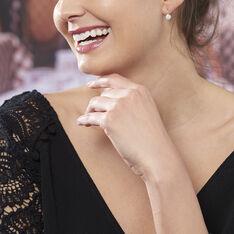 Boucles D'oreilles Pendantes Maximine Argent Blanc Oxyde De Zirconium - Boucles d'oreilles Pendantes Femme | Marc Orian