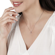 Collier Salona Argent Blanc Oxyde De Zirconium - Colliers Femme | Marc Orian