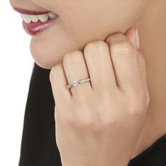 Bague Solitaire Symphonie Or Blanc Diamant - Bagues Solitaire Femme   Marc Orian